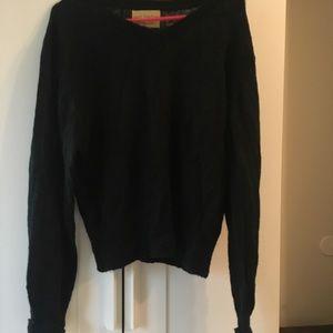 Wildfox White Label Black V Neck Sweater S